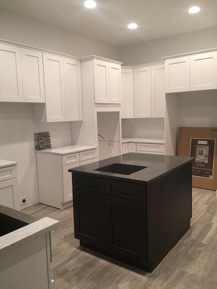 White Cabinet Installation