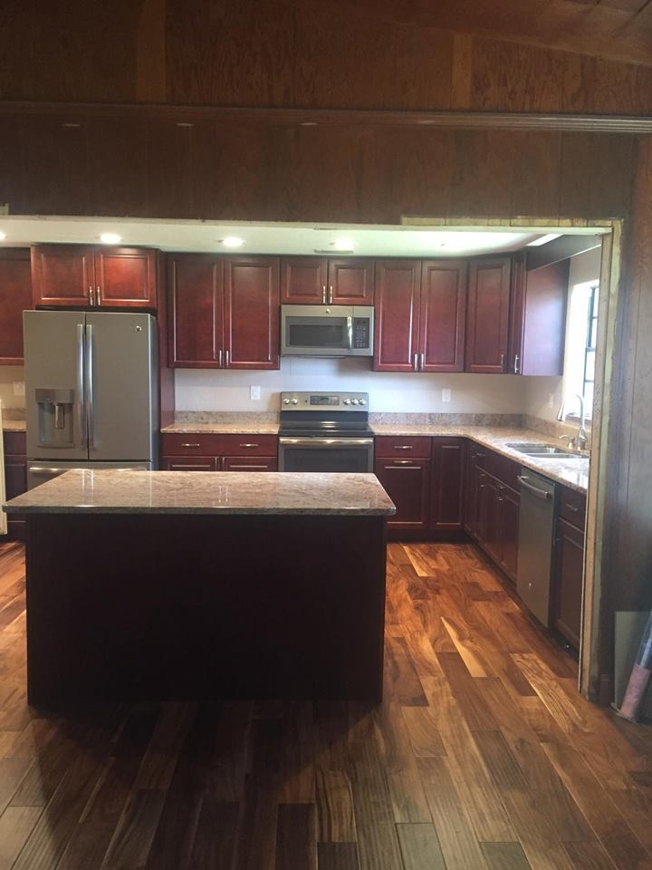Dark Cabinets Installed with Countertops
